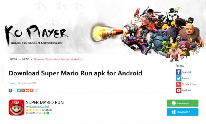 malware-super mario run