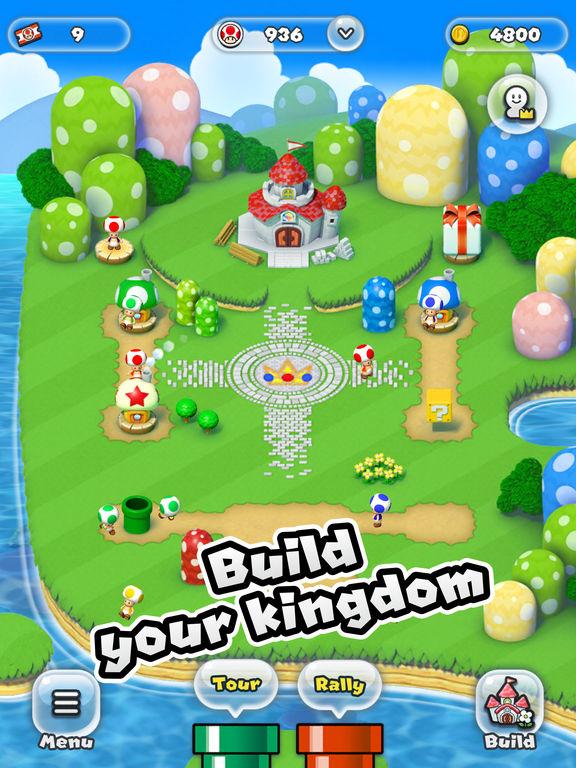 super mario run build kingdom