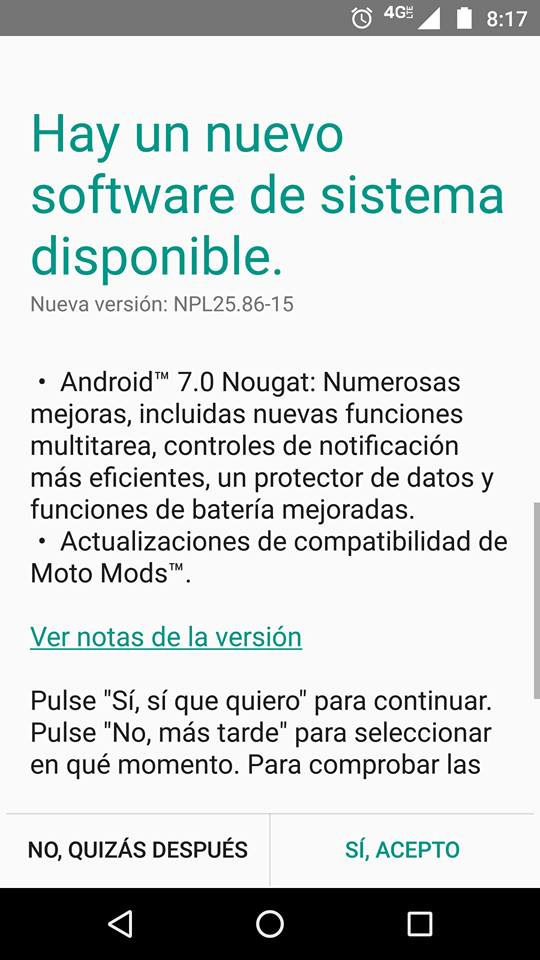 android 7 moto z