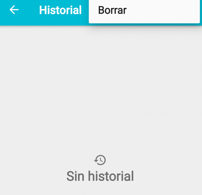 calculadora historial