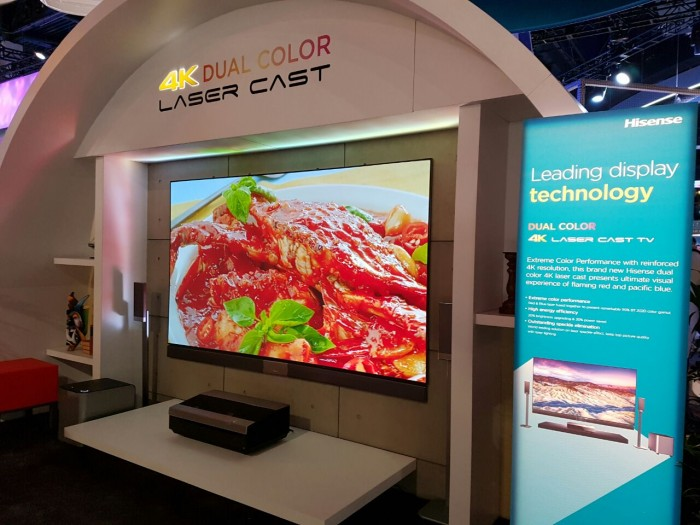 hisensebooth laser tv