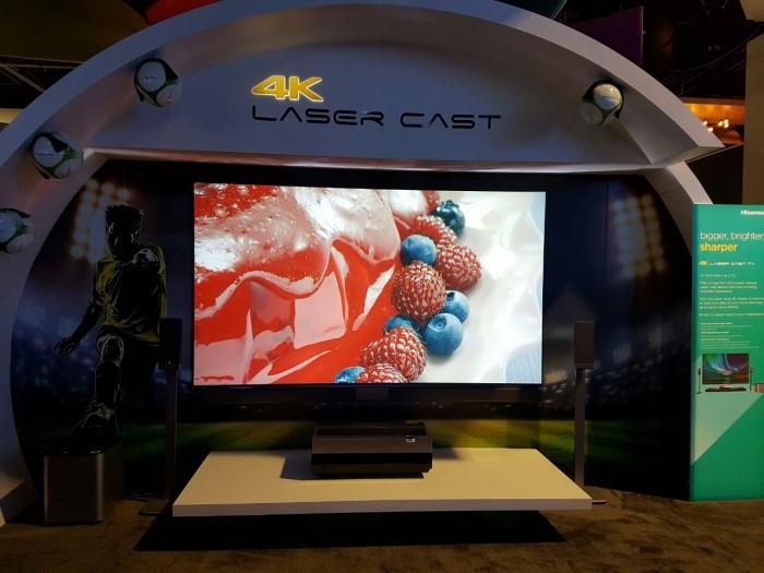 hisenseboothlasercast tv