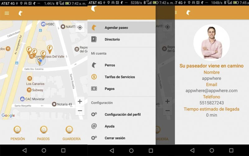 paseame app android