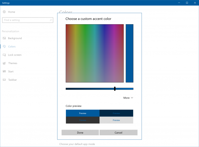 windows colores