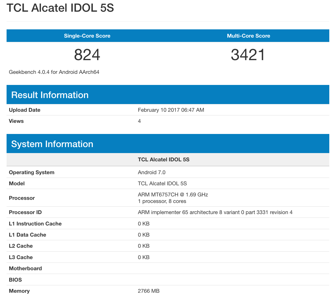 Alcatel-Idol-5S benchmark