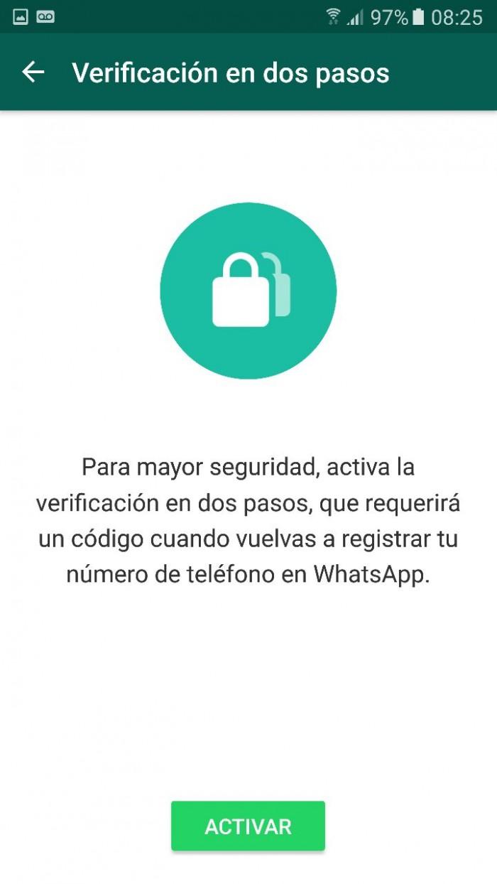 WhatsAp proceso verificacion