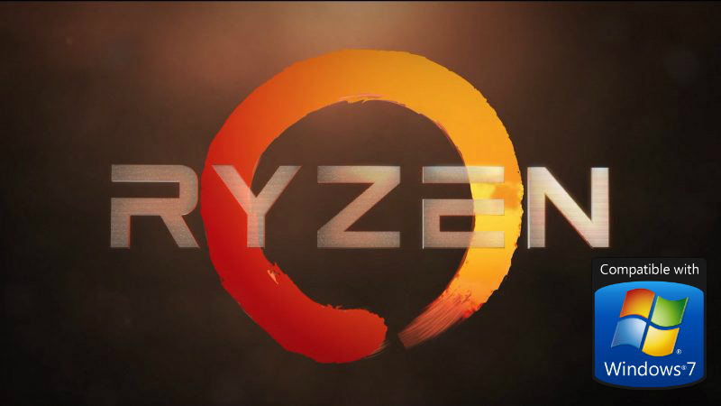 AMD Ryzen podría ser la favorita para los amantes de Windows 7