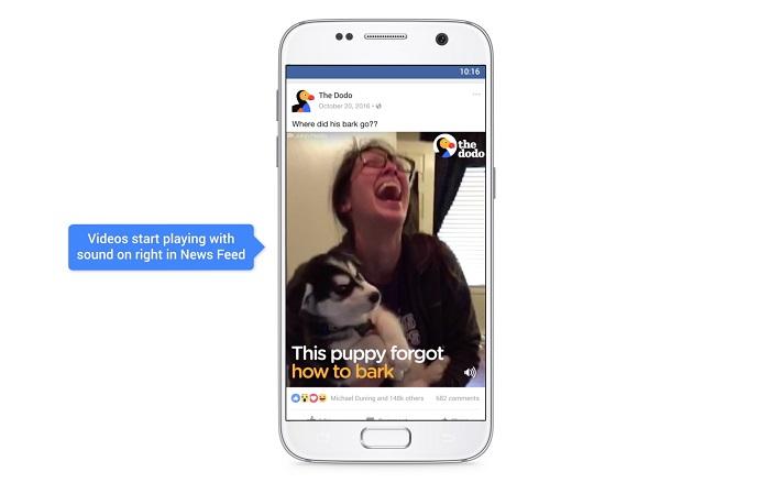 facebook video sonido