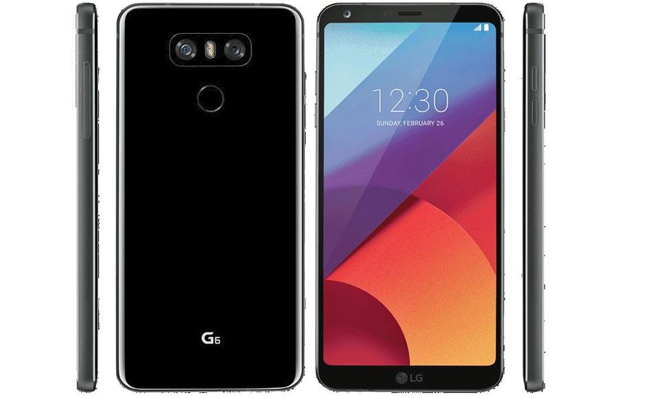 LG G6 luce con un acabado brillante en la parte posterior
