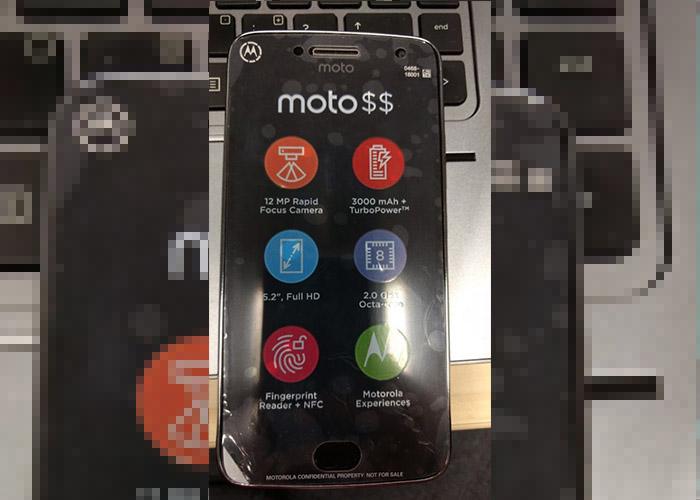 Así luce el frontal del Moto G5 Plus