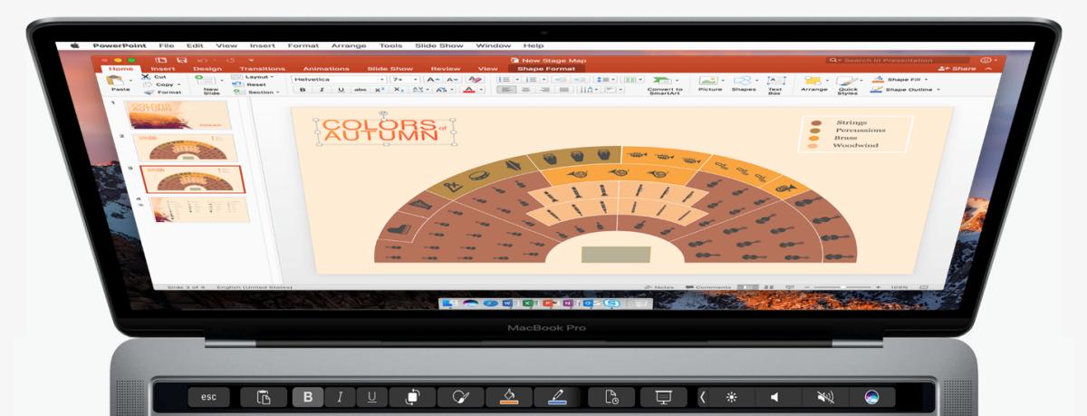 office para mac touch bar 2