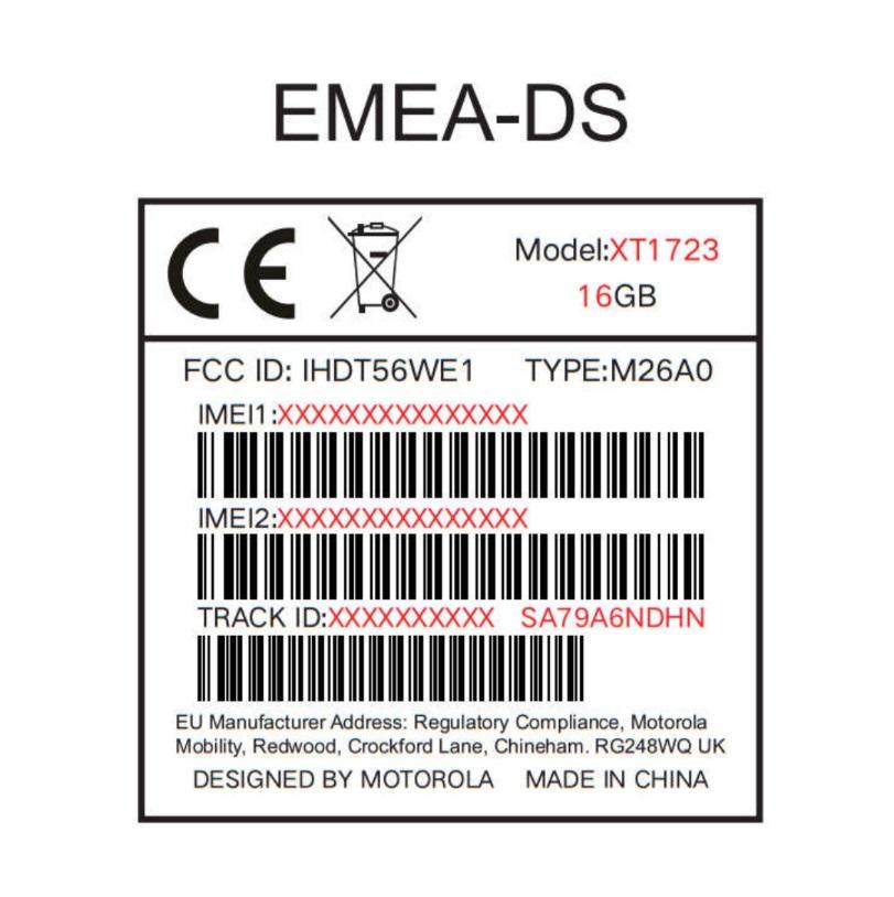Moto-E4 fcc certificado
