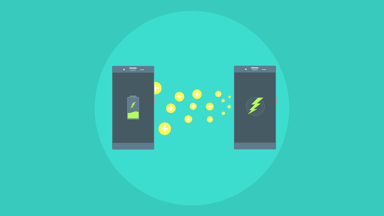 Sony patentó una tecnología futurista para recargar la batería de un teléfono con otro