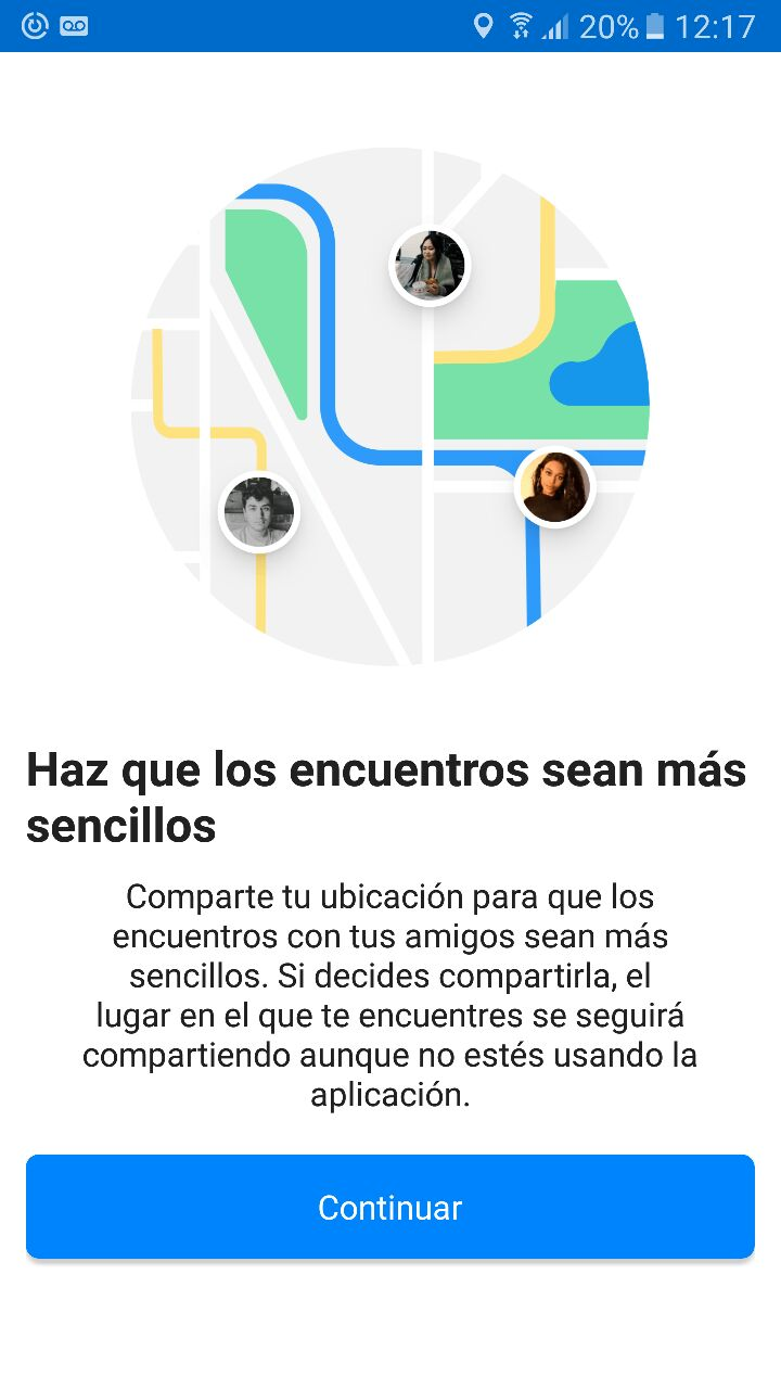 facebook messenger live location activacion