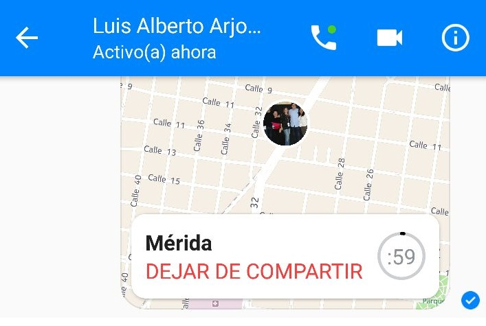 facebook messenger live location dejar compartir