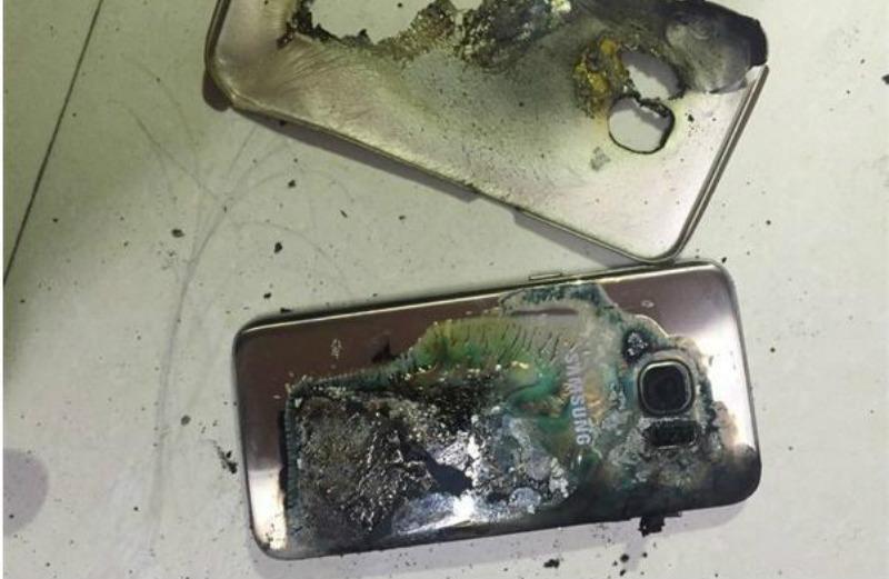 Así terminó el Galaxy S7 tras la explosión