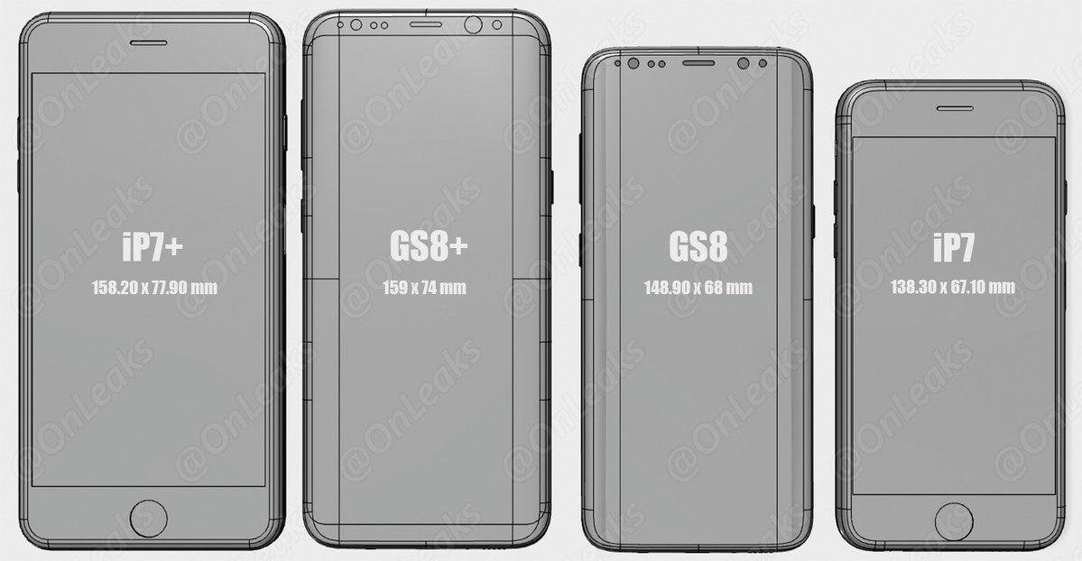 galaxy s8 iphone 7