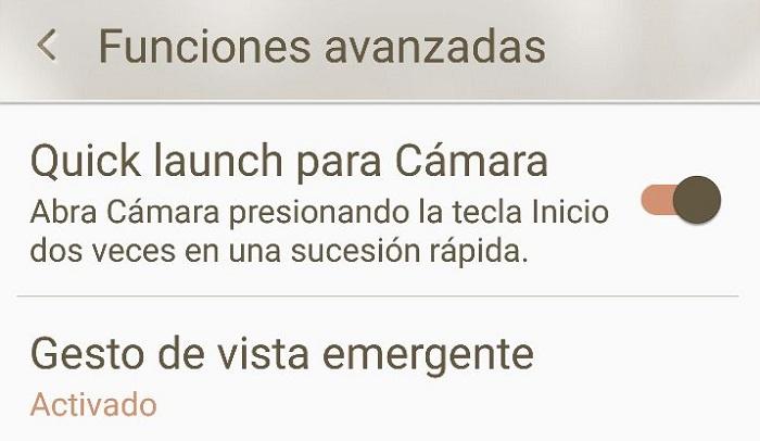 quick launch camara s6