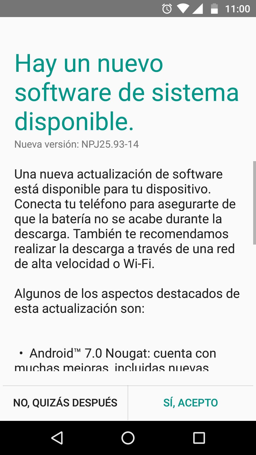 Moto G4 Plus actualizacion Nougat at&t mexicoi
