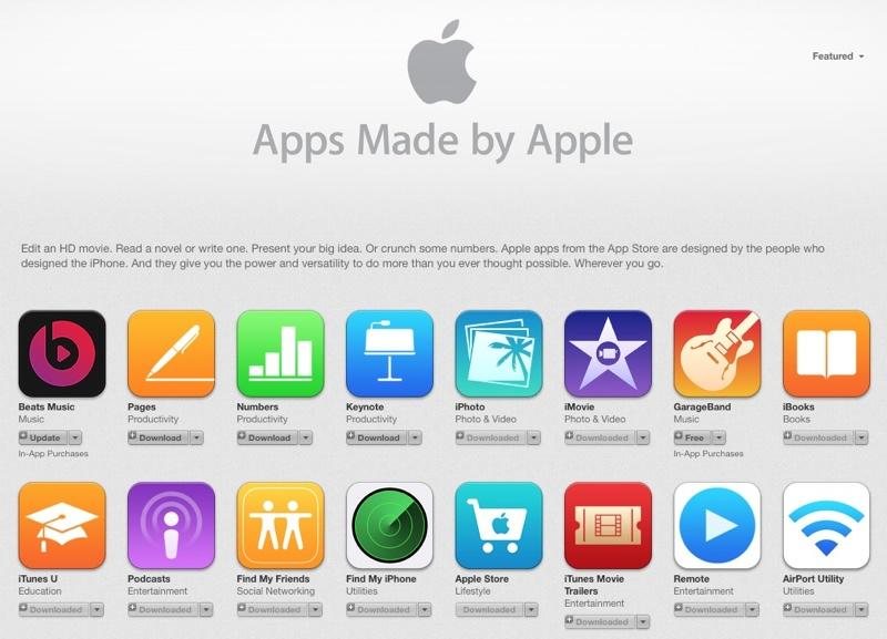 Estas son las aplicaciones de Apple