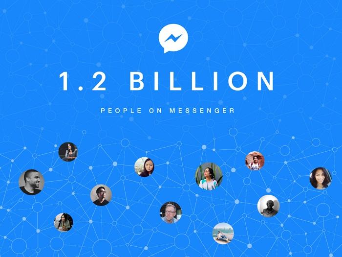 facebook messenger 1.2 mil millones usuarios mensuales