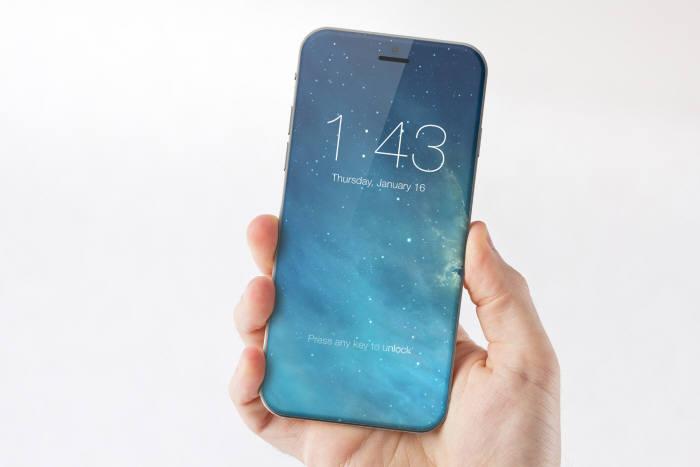 smartphone con pantalla al 100 por ciento