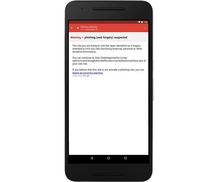 Gmail en Android evita ataques de phishing