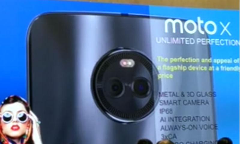 Así luce el Moto X4 en la parte trasera