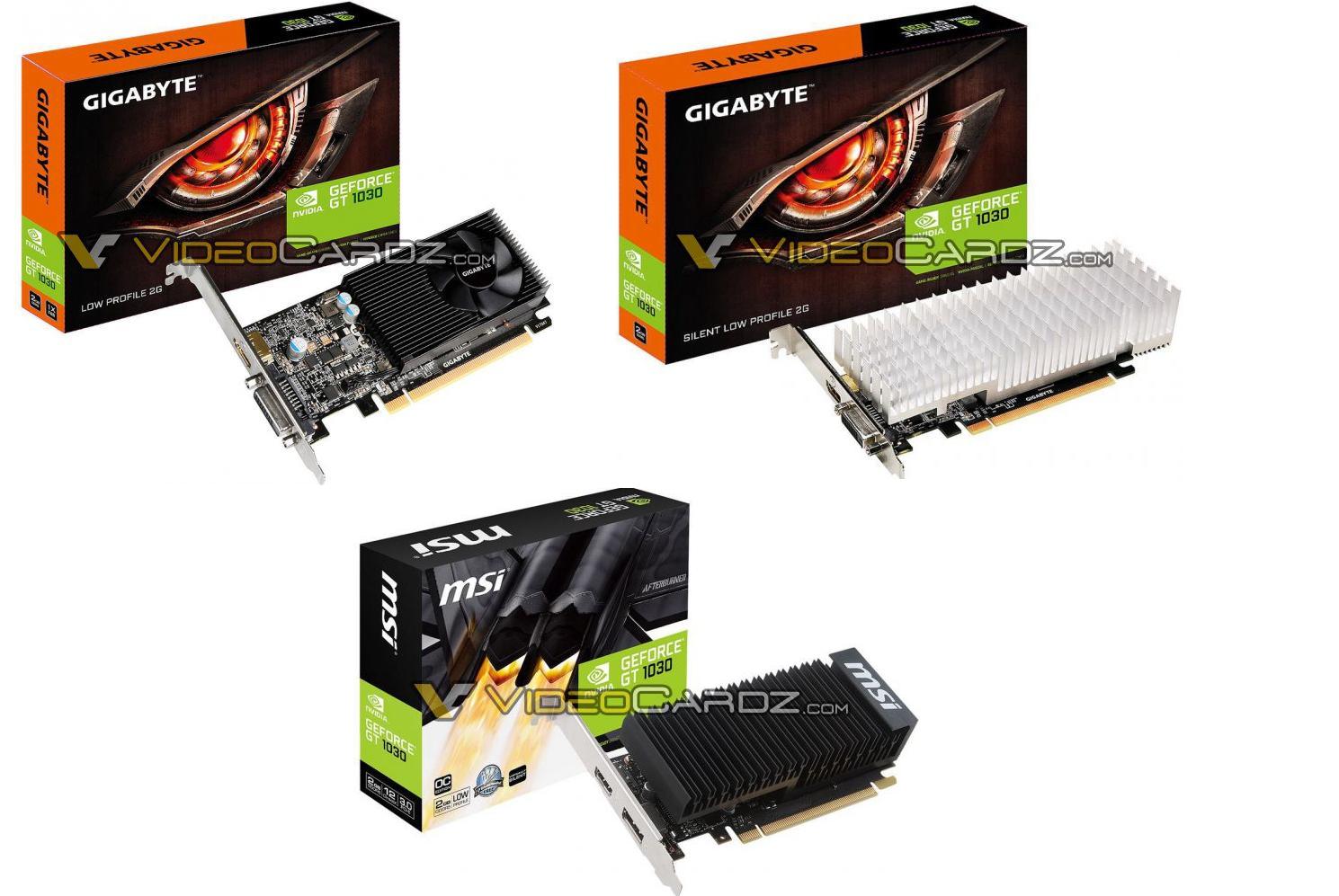 NVIDIA GT 1030 primeras tarjetas graficas filtradas