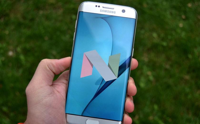 Galaxy S7 edge recibe Nougat  de forma manual