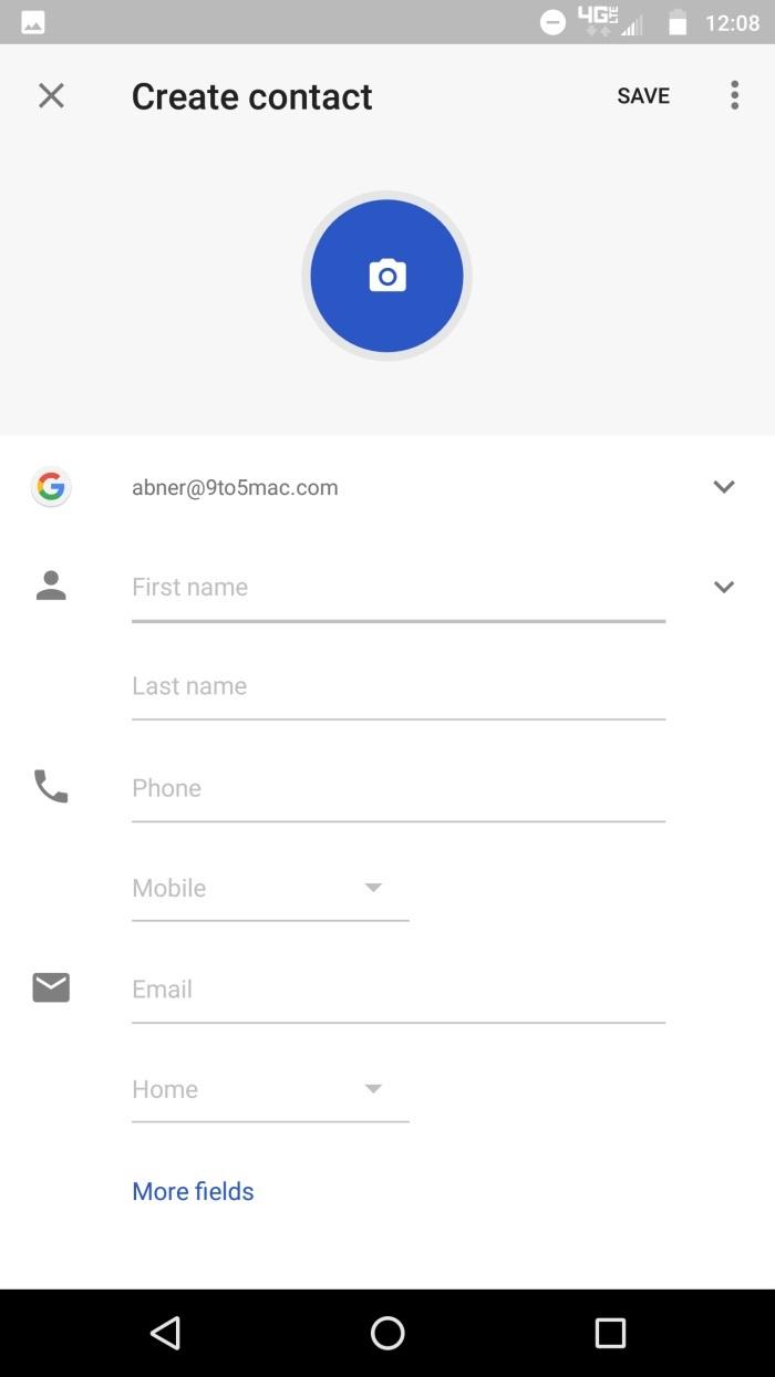 google-contacts-crear contacto