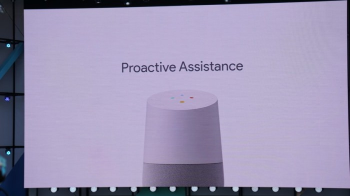google home proactive assistance