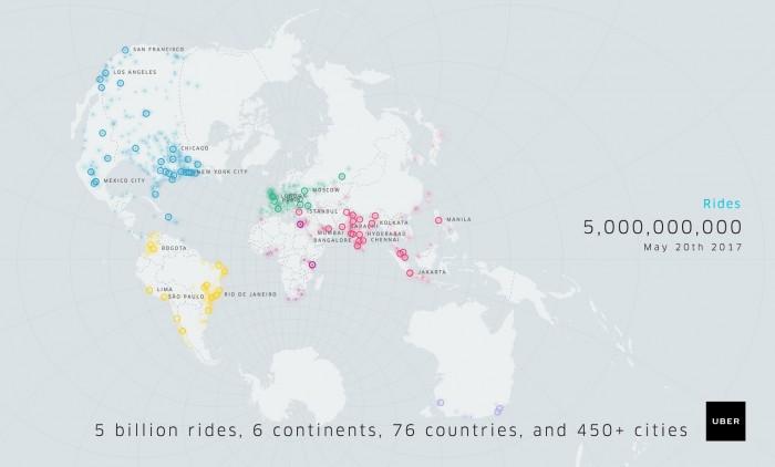 5mil millones viajes uber