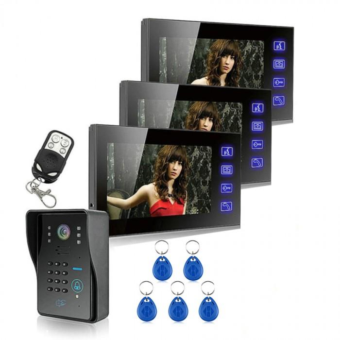 Touch Key 7 LCD Video Door Phone Intercom-ofertas-geekbuying