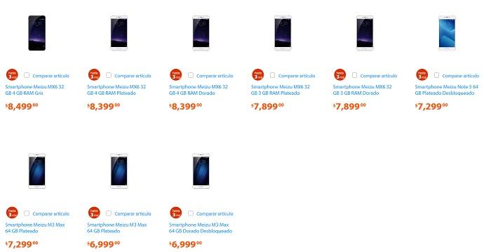 smartphones-meizu-venta-walmart-mexico