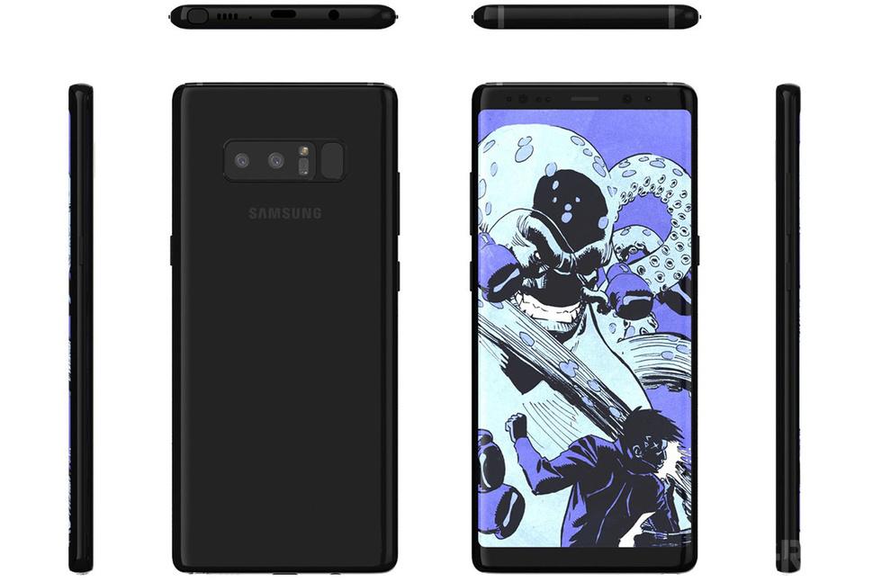 Así podría lucir el Galaxy Note 8