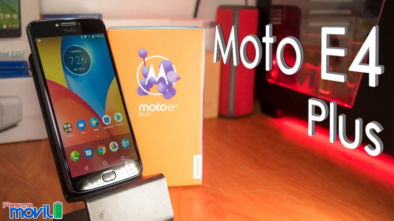Te presentamos al Moto E4 Plus