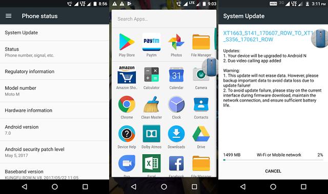 New-MotoM Android Nougat
