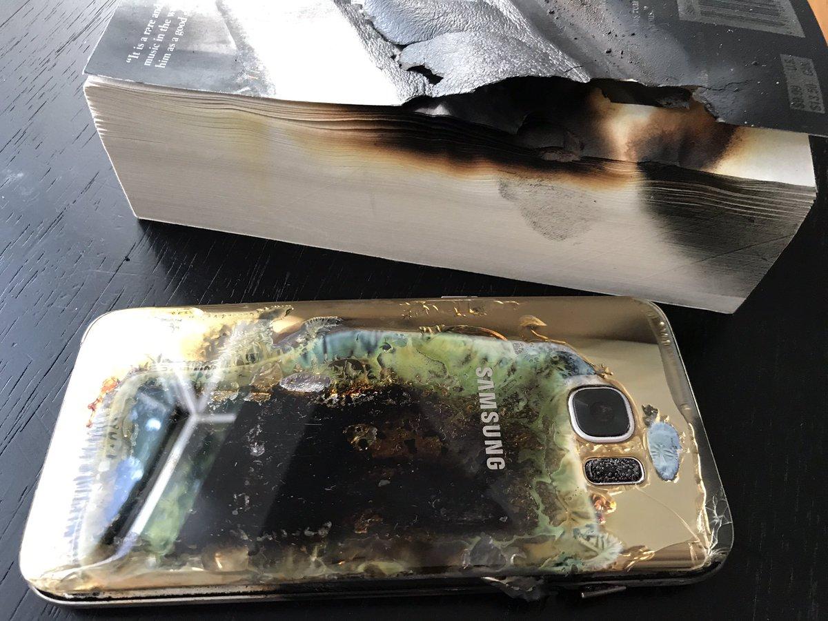 Así terminó el Galaxy S7 edge tras el incendio