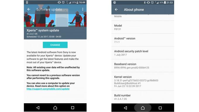 Xperia XZ y X Performance reciben nueva actualización de Seguridad julio android