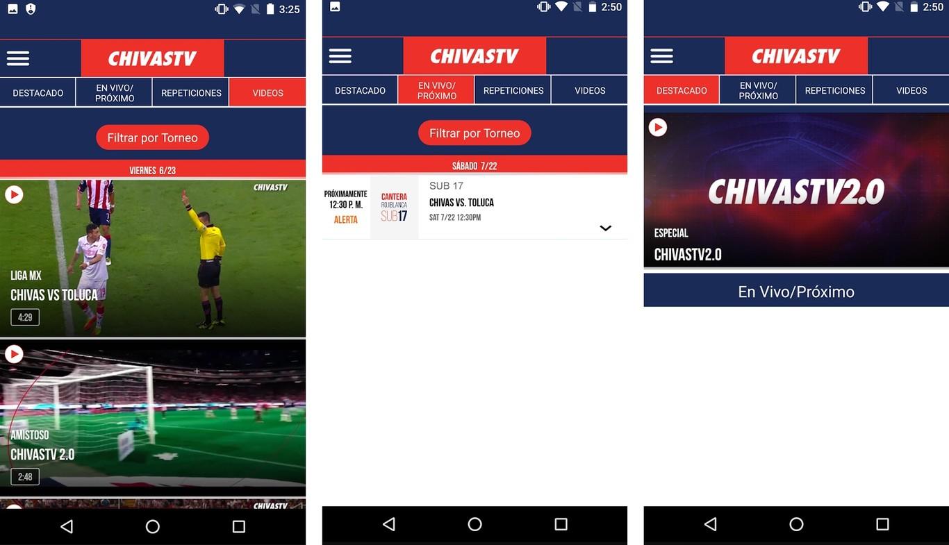 chivas tv app móvil para android