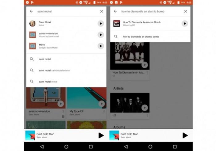 google play music app buscador reproductor