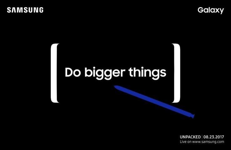 Esta es la invitación a la presentación del Galaxy Note 8