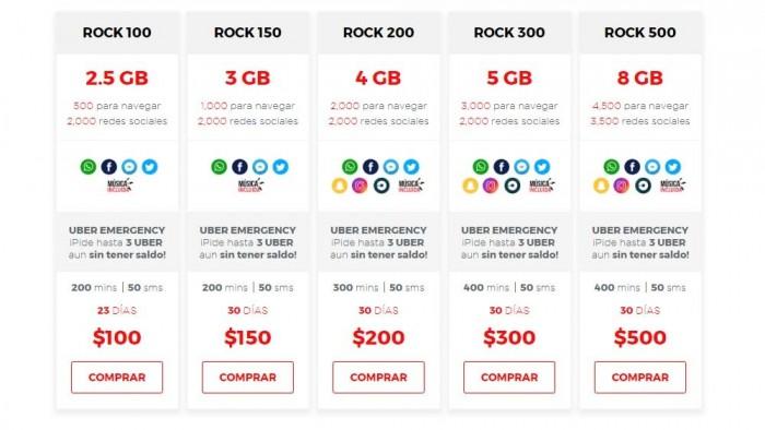 virgin mobile datos rock 100 rock 500
