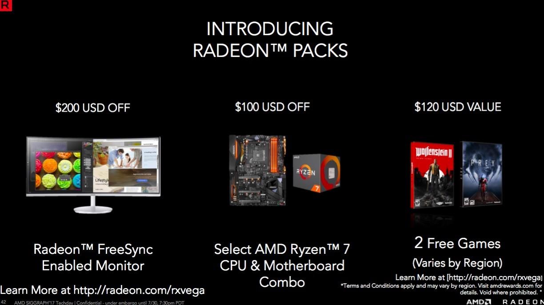 AMD Radeon RX Vega AMD Radeon Packs