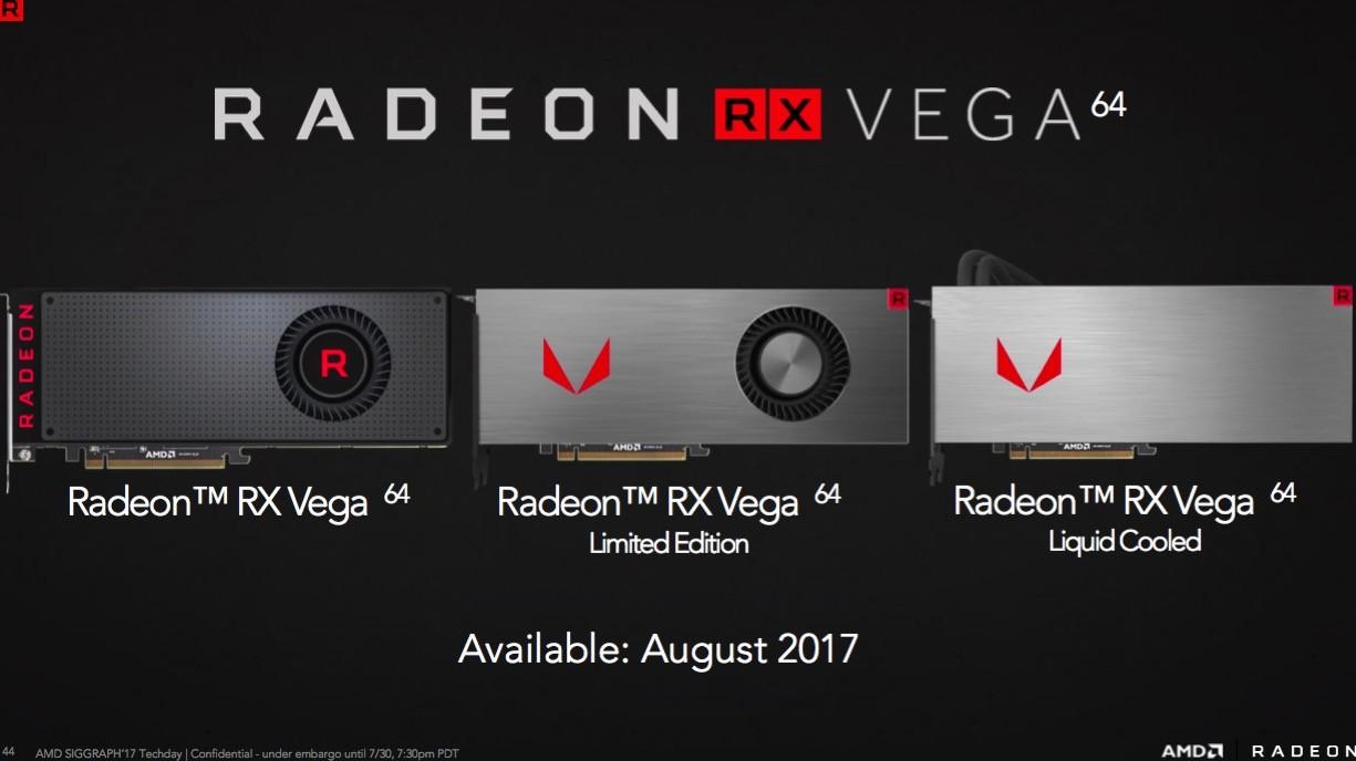 AMD Radeon Vega 64 variantes modelos