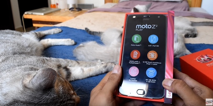 unboxing moto z2 play poderpda