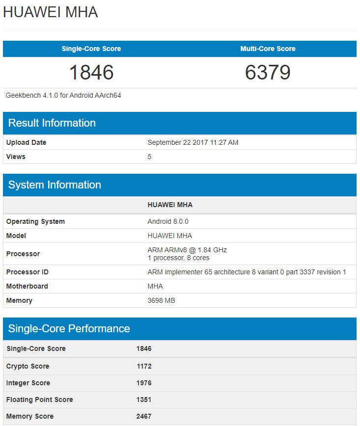 Huawei-Mate-9 android 8.0 oreo