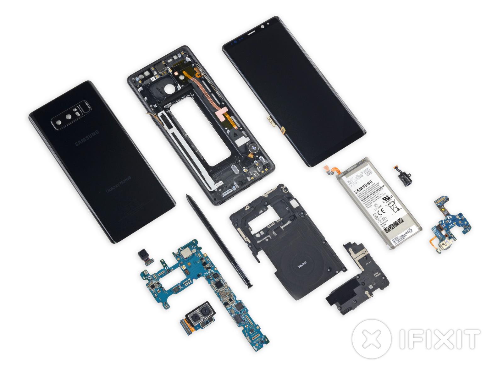 Samsung Galaxy Note 8 ifixit desarmado