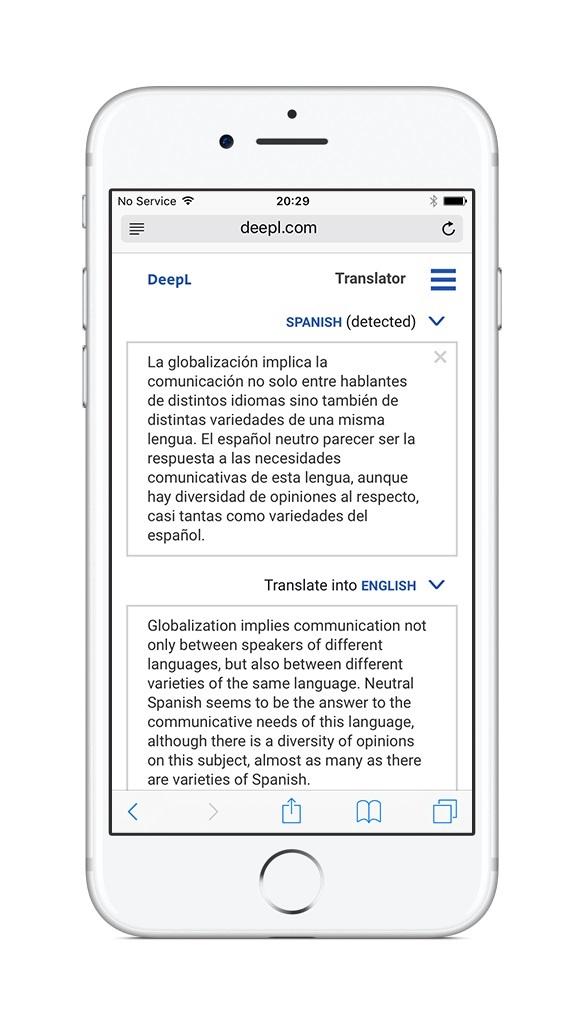 deepl traductor smartphone